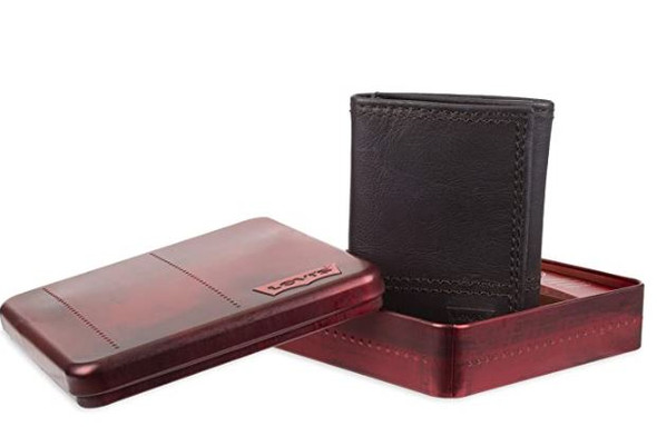 Wallet Levi's Men's Trifold Sleek and Slim in Gift Box