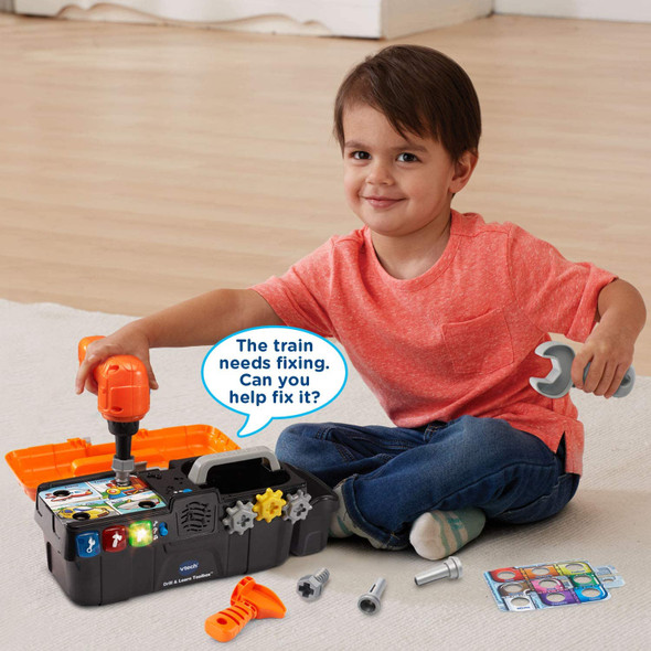 Toy VTech Drill and Learn Toolbox