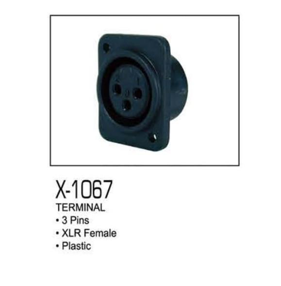 PLUG CHASS XLR FEMALE 3-PIN X-1067 ZEBRA PLASTIC