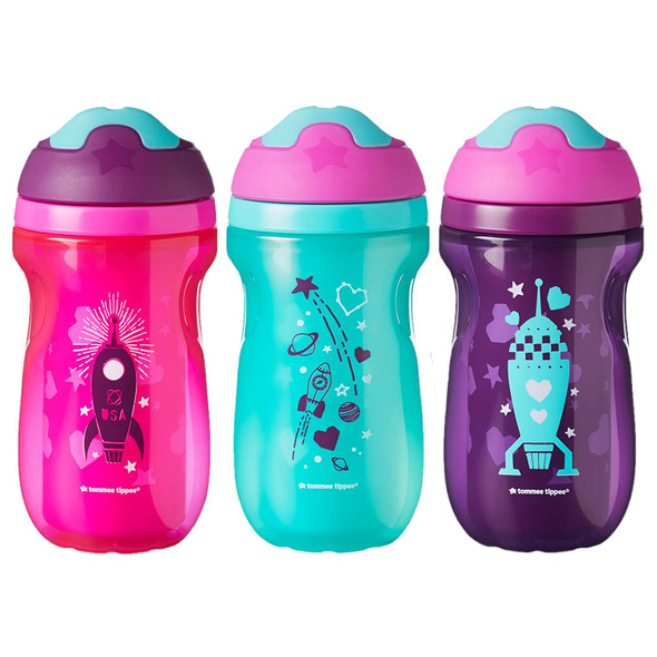 Baby Tommee Tippee Non-Spill Insulated Sippee Toddler Tumbler Cup, 12+ Months, 9oz 3pk
