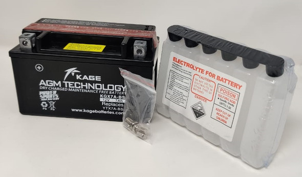 M/CYCLE BATTERY KAGE KGX7A-BS YTX7A-BS WITH ACID 12V 7AH