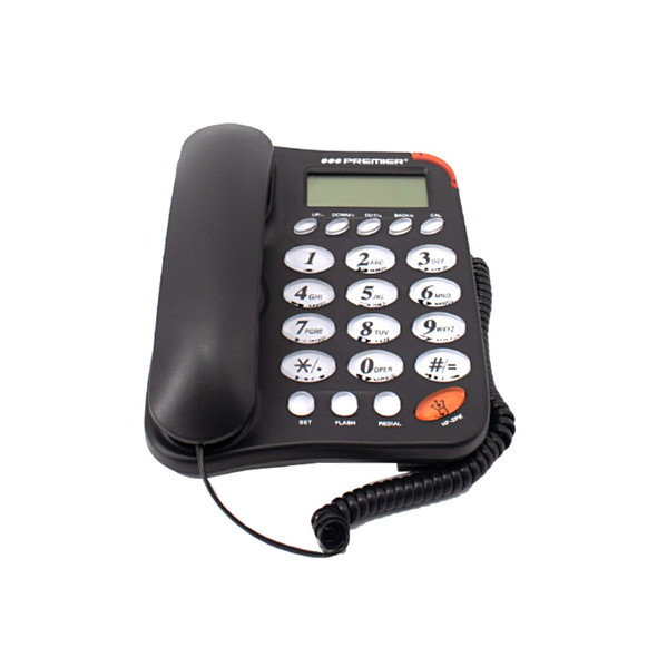 TELEPHONE PREMIER TEL-6188DS WITH CALLERS ID WHITE / BLACK