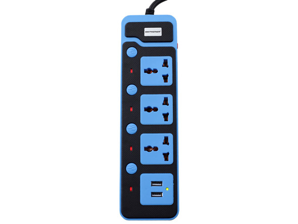 POWER STRIP WITH USB 3 OUTLET PREMIER TC-7216USB GREEN / BLUE