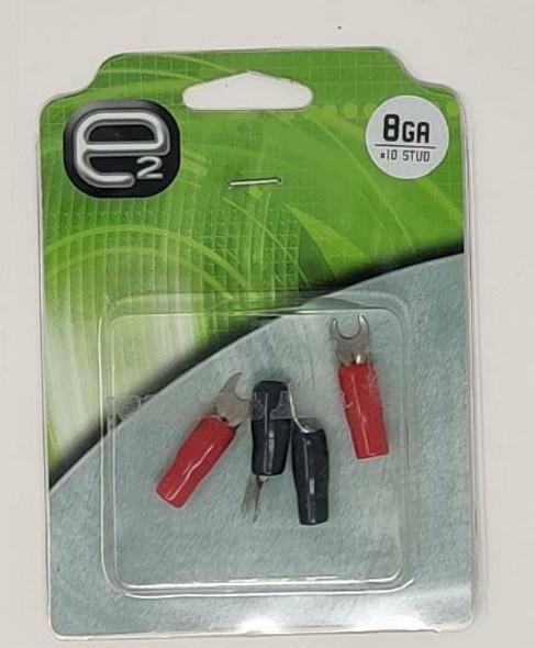 CABLE LUG TERMINAL E2 EBS84 8G SPADE 4PCS PACK