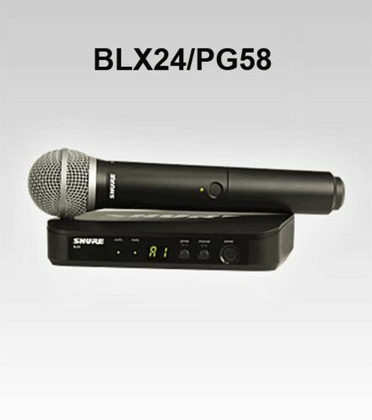 MICROPHONE KIT SHURE BLX24PG58H10 CORDLESS
