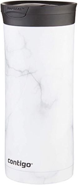 Contigo Couture SNAPSEAL Insulated Travel Mug, 20oz, White Marble