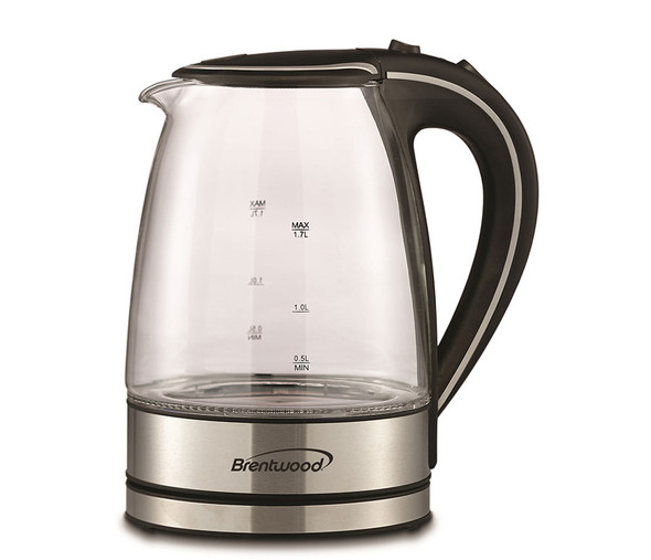KETTLE BRENTWOOD KT-1900BK 1.7L CORDLESS GLASS ELECTRIC