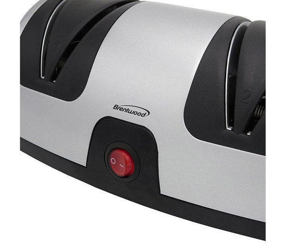 KNIFE SHARPENER BRENTWOOD TS-1001 2 STAGE ELECTRIC KNIFE
