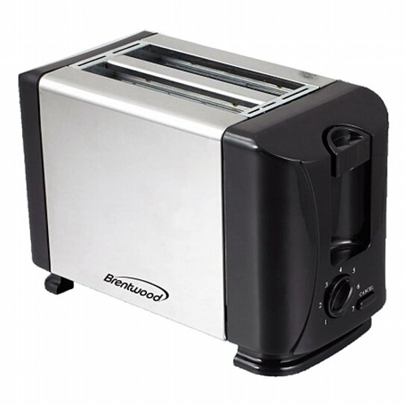 TOASTER 2 SLICE BRENTWOOD TS-280S STAINLESS STEEL