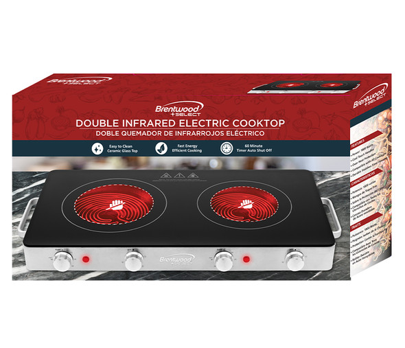 HOT PLATE 2 BURNER BRENTWOOD TS-382 INFRARED 1800W