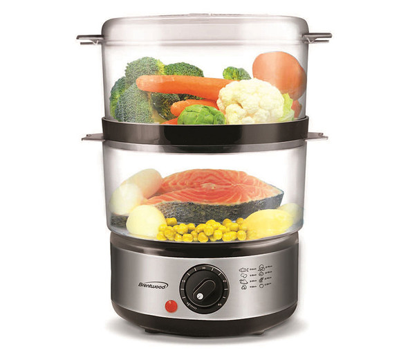 FOOD STEAMER BRENTWOOD TS-1005 2-TIER 5Q