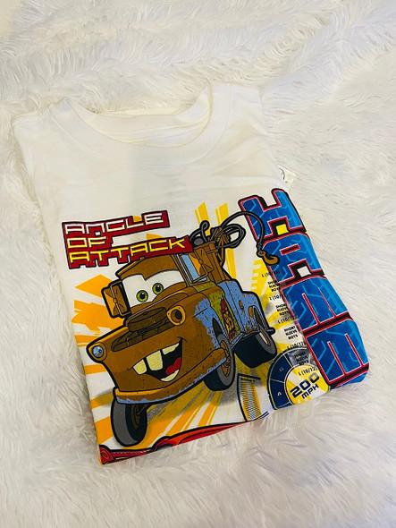 Kids Disney Tshirt  Boys cars White Hammer down