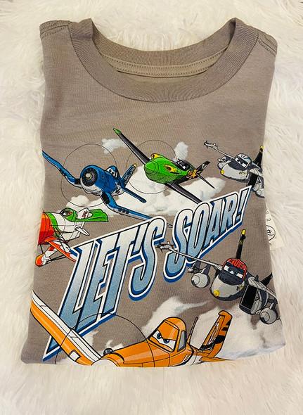 Kids Disney Tshirt Boys Planes Grey