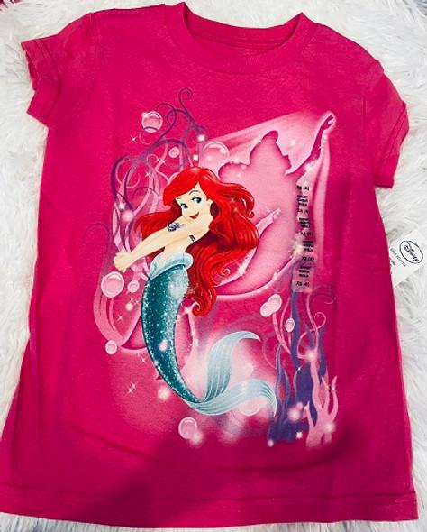 Kids Disney Tshirt Little Mermaid Pink