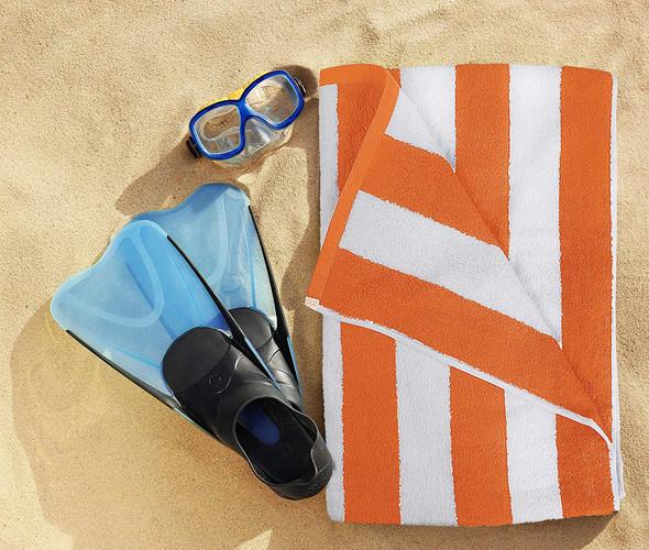 Towel Utopia Premium Cotton Orange stripe (1pc)