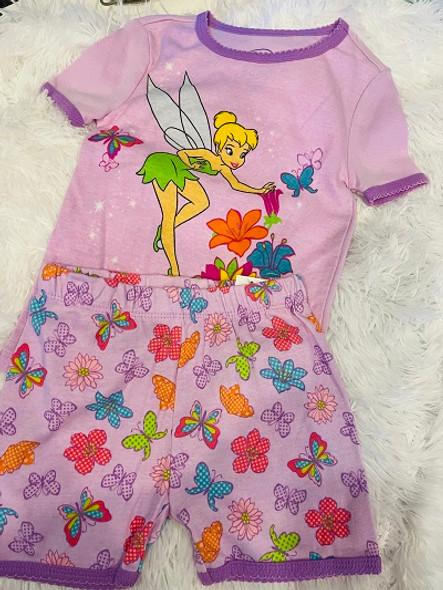 Kids PJ Disney Girls  Shorts set Tinkerbelle size 4