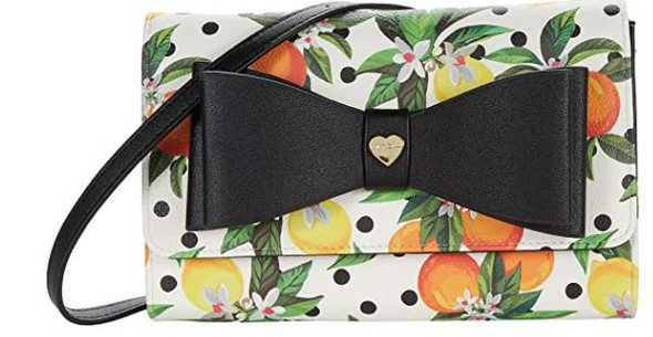 Bag Betsey Johnson Dani Floral Printed Crossbody with Bow