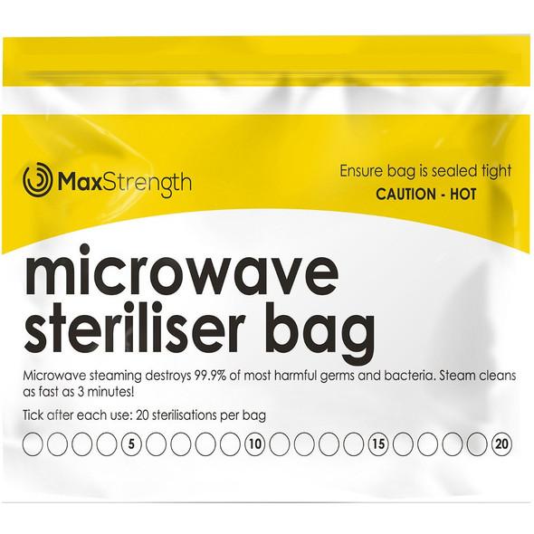 Baby Microwave Sterilizer Bag Max Strength 20pcs (20 use per bag)