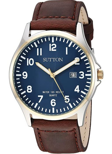 Watch Sutton by Armitron Men's Function Brown Leather Strap