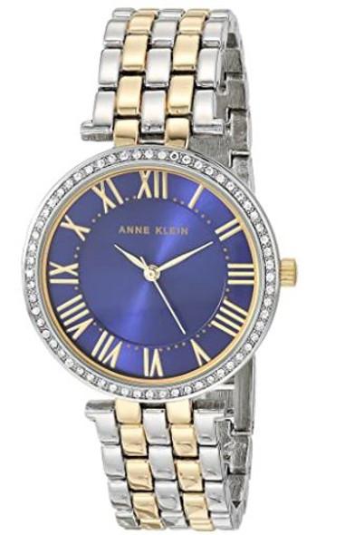 Watch Anne Klein Women's Premium Crystal Accented Bracelet Navy 3131NVTT
