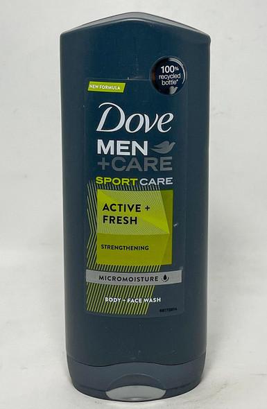 Dove Men + Care SportCare Active + Fresh Strengthening Micromoisture Body + Face Wash 400ml