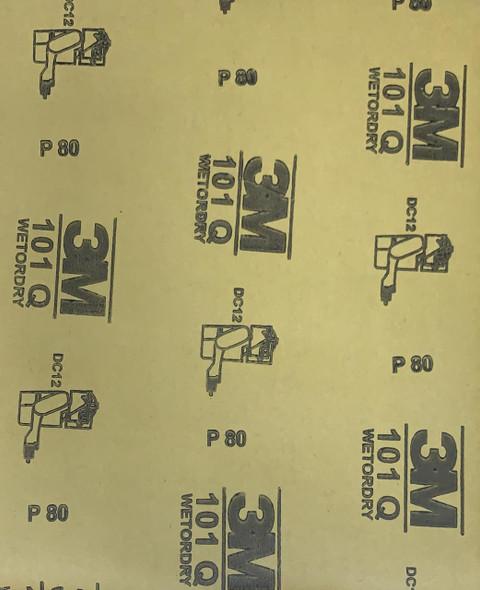 SAND PAPER METAL #80 3M 101Q CHINA BROWN BACK
