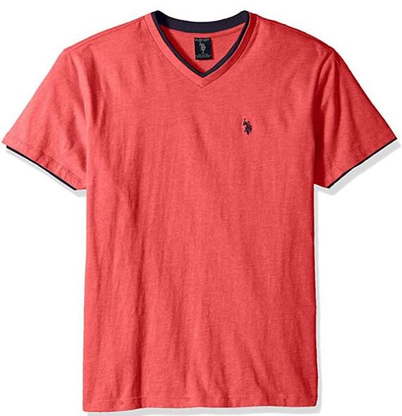 Men T-shirt US Polo V-neck Red
