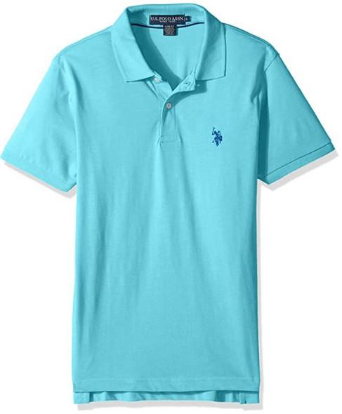 Men Shirt Polo US Polo Aqua