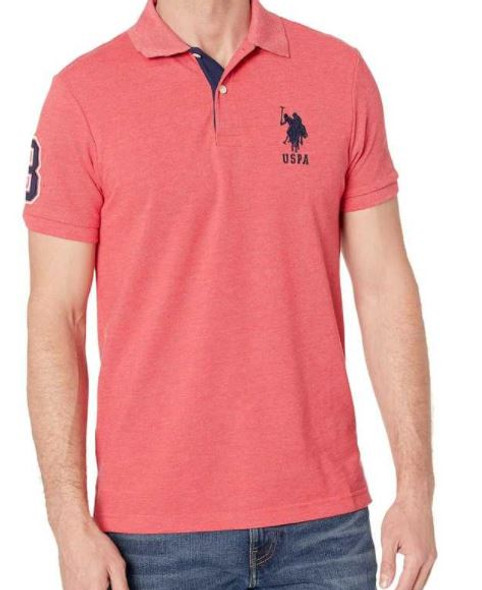 Men Shirt Polo US Polo Red Heather Slim Fit