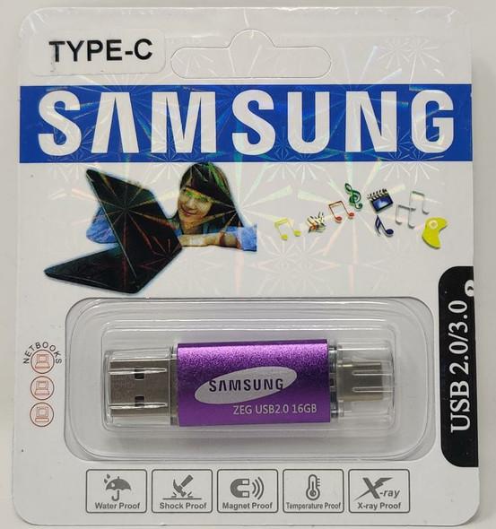 COMPUTER FLASH DRIVE 16GB USB 2.0/3.0 USB & TYPE-C USB PORTS