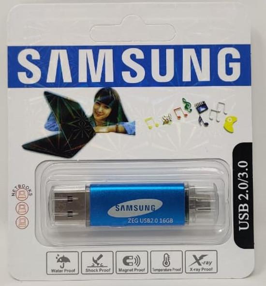 COMPUTER FLASH DRIVE 16GB ZEG USB 2.0/3.0 USB & MICRO USB PORTS
