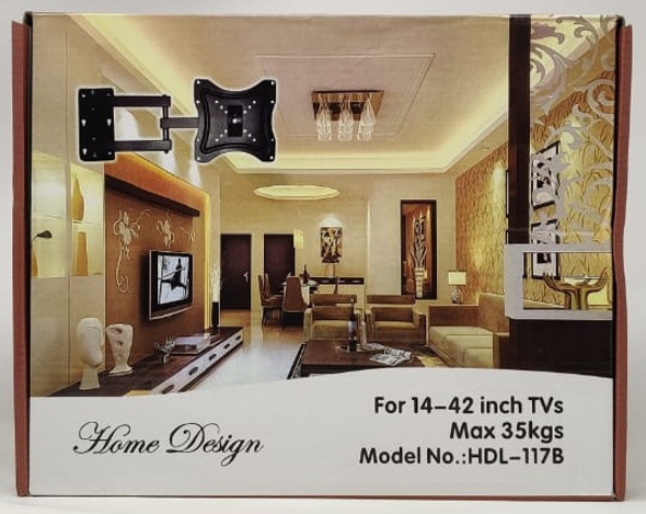 "TV WALL BRACKET 14""-42"" HDL-117B HOME DESIGN"