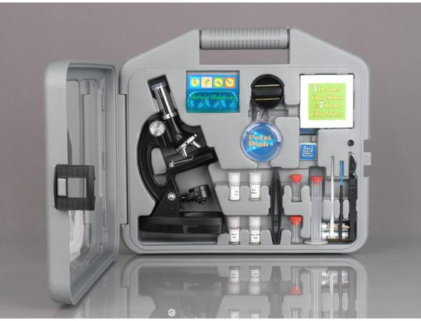 Microscope Kids Beginner STEM Carrying case Black