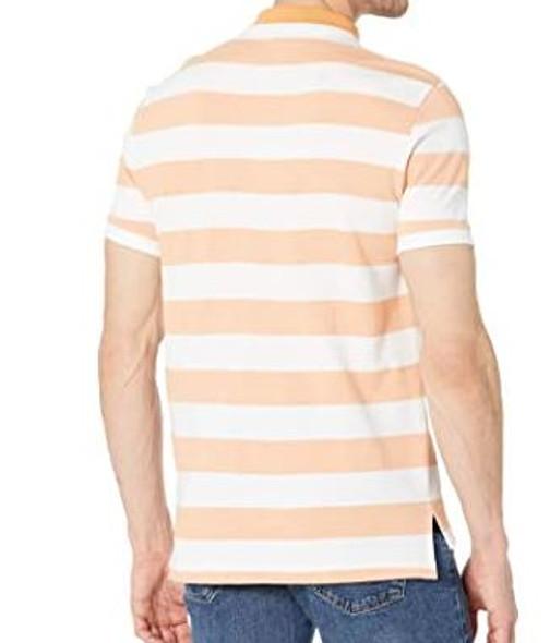 Men Shirt Polo US Polo Orange strip slim fit