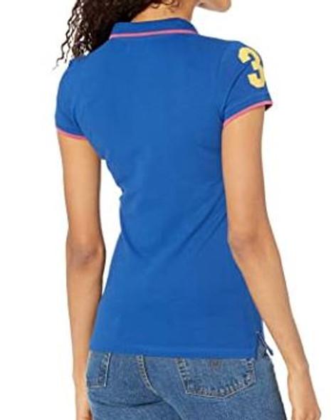 Women Shirt Polo US Polo Blue w/pink trim, logo