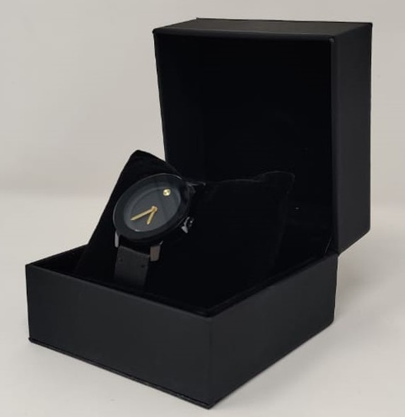 Watch Fashion Generic Women Black With Black Leather Smooth Strap