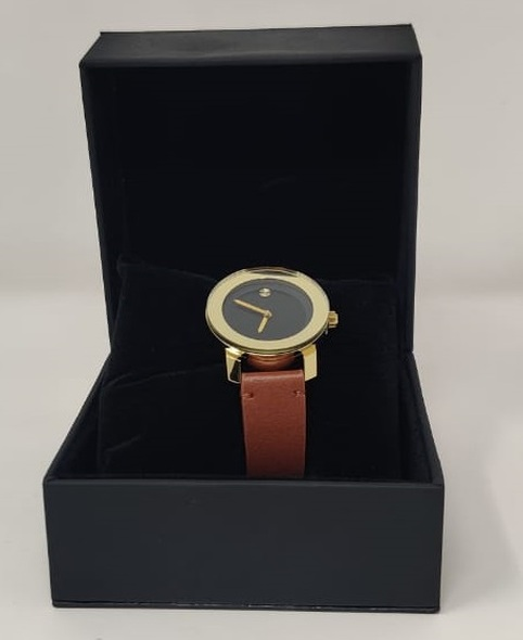 Watch Fashion Generic Women Gold With Brown Leather Smooth Strap