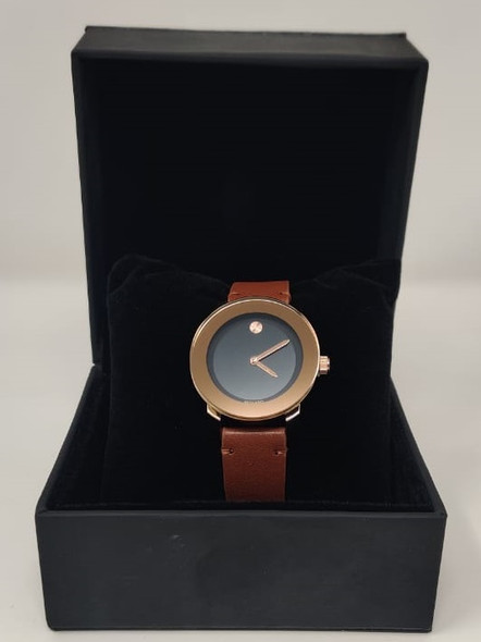 Watch Fashion Generic Women Rose Gold With Brown Leather Smooth Strap