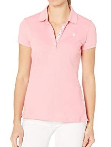 Women Shirt Polo US Polo Heather Rose