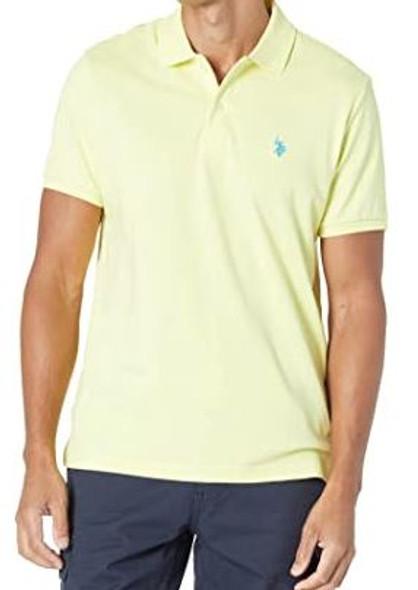 Men Shirt Polo US Polo Yellow Lili