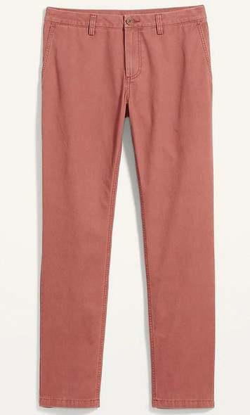 Men Pants Old Navy Chino Athletic Fit Rose Tapered