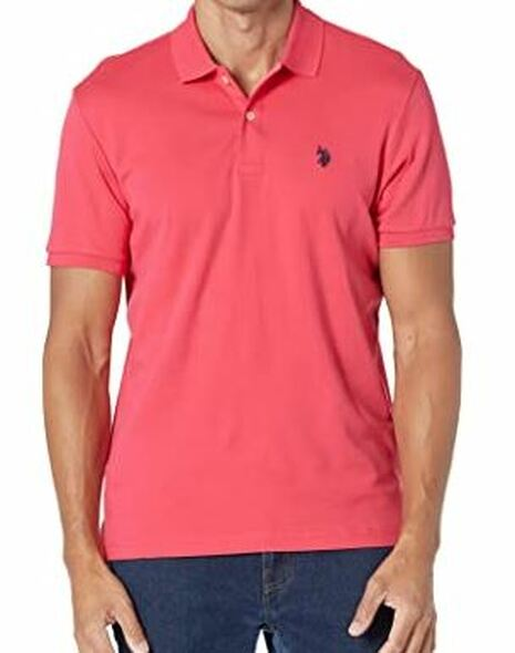 Men Shirt Polo US Polo Coral luxury feel
