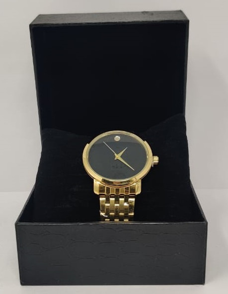 Watch Fashion Generic Men Gold With Metal Strap Fine