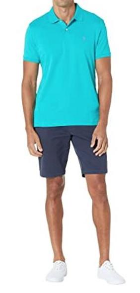 Men Shirt Polo US Polo Teal luxury feel