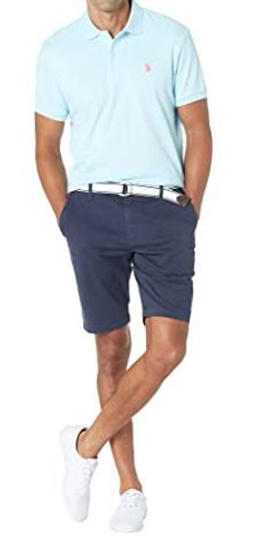 Men Shorts US Polo Twill Navy Stretch