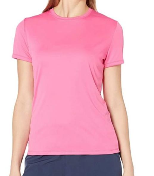 Women Tshirt Hanes round neck Cool DRI Pink