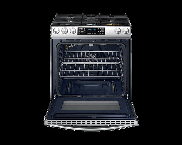 STOVE 5 BURNER SAMSUNG NX60T8511SS AIR FRYER TRUE CONVECTION OVEN WITH PLATE-GRIDDLE