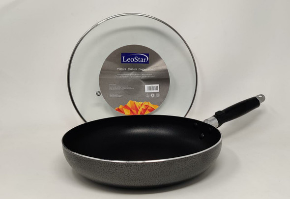 FRYING PAN LEOSTAR FM26 WITH GLASS LID 26CM