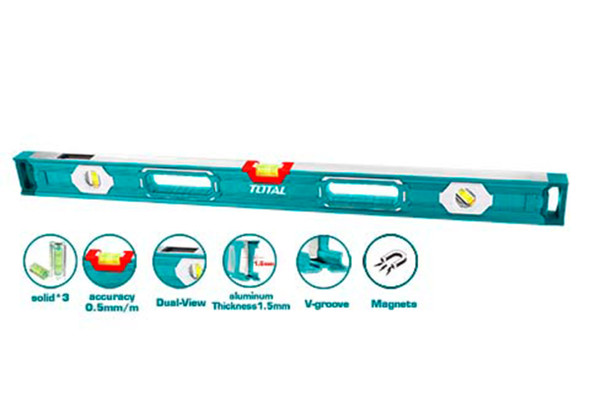 LEVEL TOTAL 80CM TMT28056 Spirit level (With powerful magnets)