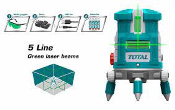 SELF-LEVELING LINE LASER  TOTAL TLL305205 GREEN LASER BEAMS